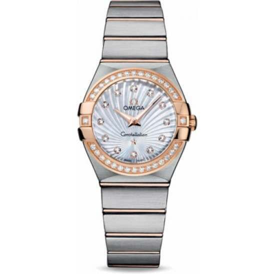Omega Constellation Brushed Quartz Diamonds 123.25.27.60.55.002