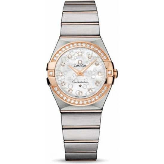 Omega Constellation Brushed Quartz Diamonds 123.25.27.60.55.009
