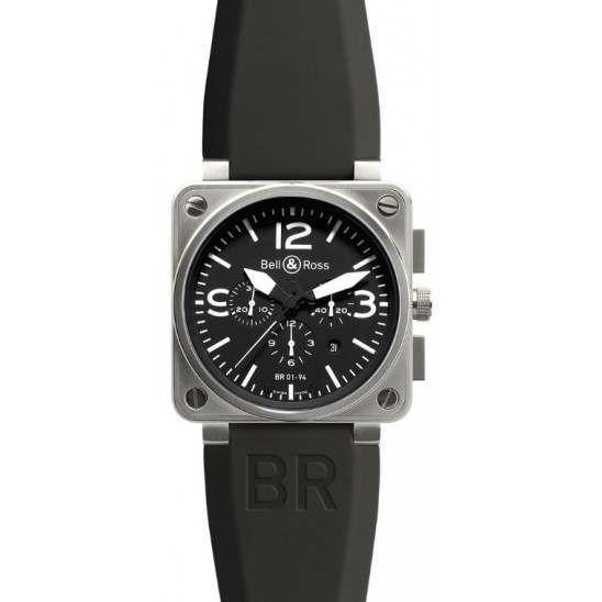 Bell & Ross BR 01-94 Chronographe Steel BR0194-BL-ST
