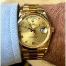 Rolex Day-Date Champagne/ Arab Dial President 118208