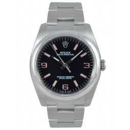 Rolex Oyster Perpetual Black Arab Pink index Oyster 116000