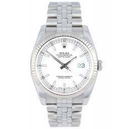 Rolex Datejust White/index Jubilee 116234 - No Seals