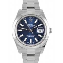 Rolex Datejust II Blue/ Index Oyster 116300