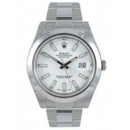 Rolex Datejust II White/index Oyster 116300