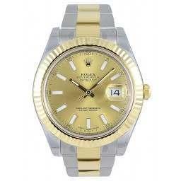 Rolex Datejust II Champagne/index Oyster 116333