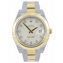 Rolex Datejust 41 Ivory/Diamond Oyster 116333