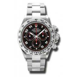 Rolex Cosmograph Daytona 18ct White Gold Black Arab Dial 116509