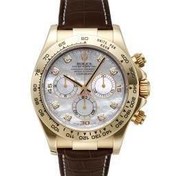 Rolex Cosmograph Daytona White mop/8 Diamond Leather 116518