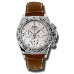 Rolex Cosmograph Daytona White mop/8 Diamond Leather 116519