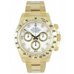Rolex Cosmograph Daytona White/8 Diamond 116528