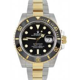 Rolex Submariner Steel & Gold Black Dial and Bezel 116613LN