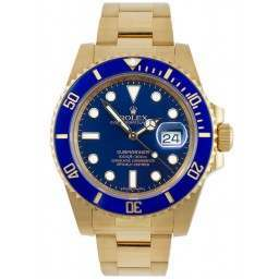 Rolex Submariner 18ct Yellow Gold Date Blue Dial 116618LB