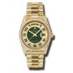 Rolex Day-Date Yellow Gold Paved Arab President 118388