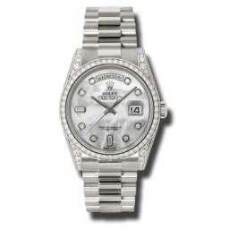 Rolex Day-Date White mop/Diamond President 118389