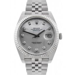 As New Rolex Datejust 41 Steel&Gold White MOP/ Diamonds Jubilee 126334