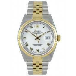 Rolex Datejust White/Roman Jubilee 16233
