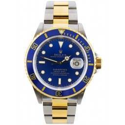 Rolex Submariner Steel and Gold Blue Dial 40mm 16613