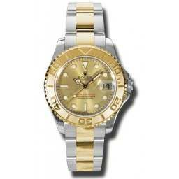 Rolex Yacht-Master 35mm Steel & Gold Champagne/index Oyster 168623