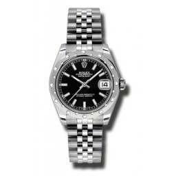 Rolex Lady Datejust 31mm Black/index Jubilee 178344