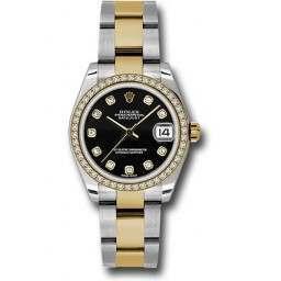 Rolex Lady Datejust 31mm Black/diamond Oyster 178383