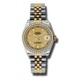 Rolex Lady Datejust 31mm Champagne/index Jubilee 178383