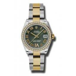 Rolex Lady Datejust 31mm Olive Green Roman Oyster 178383