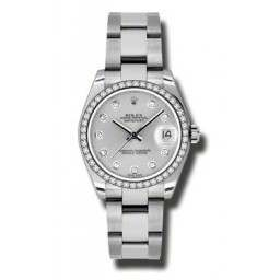 Rolex Lady Datejust 31mm Silver/diamond Oyster 178384