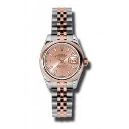 Rolex Lady-Datejust Pink/index Jubilee 179161