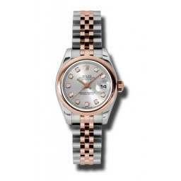 Rolex Lady-Datejust Silver/Diamond Jubilee 179161
