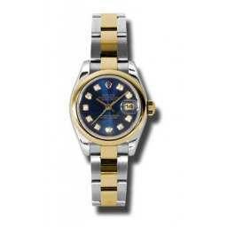Rolex Lady-Datejust Blue/Diamond Oyster 179163