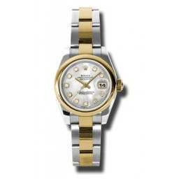 Rolex Lady-Datejust White mop/Diamond Oyster 179163