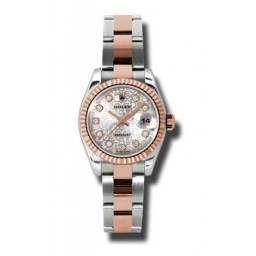 Rolex Lady-Datejust Silver Jub/Diamond Oyster 179171
