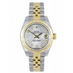 Rolex Lady-Datejust White mop/Diamond Jubilee 179173