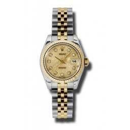 Rolex Lady-Datejust Champagne Jub/Diamond Jubilee 179173