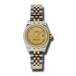 Rolex Lady-Datejust Champagne Roman Jubilee 179173