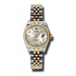 Rolex Lady-Datejust Silver Jub/Diamond Jubilee 179173