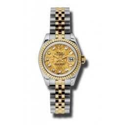 Rolex Lady-Datejust Yellow Gold Crystals/Diamond Jubilee 179173