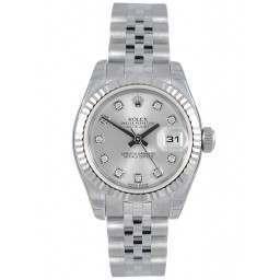 Rolex Lady-Datejust Silver/Diamond Jubilee 179174