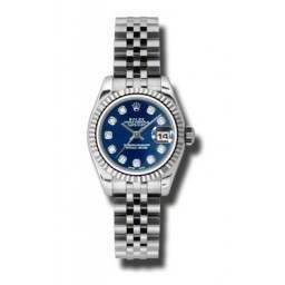 Rolex Lady-Datejust Blue/Diamond Jubilee 179174
