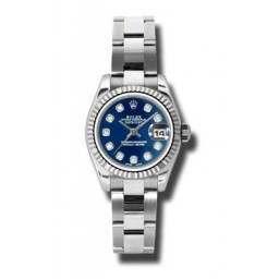 Rolex Lady-Datejust Blue/Diamond Oyster 179174