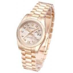 Rolex Lady-Datejust Pink Jub Diamond President 179175