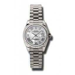 Rolex Lady-Datejust White mop Roman President 179179