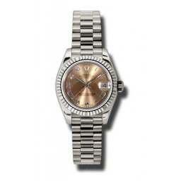 Rolex Lady-Datejust Pink Roman President 179179