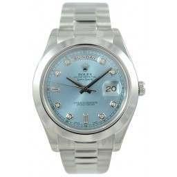 Rolex Day-Date II Ice Blue/Diamond President 218206