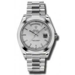 Rolex Day-Date II Silver/index President 218206