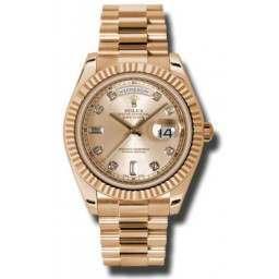 Rolex Day-Date II Pink/Diamond President 218235