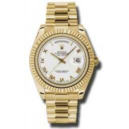 Rolex Day-Date II White Roman President 218238