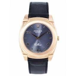 Rolex Cellini 18ct Rose Gold Black Dial - 5330/5