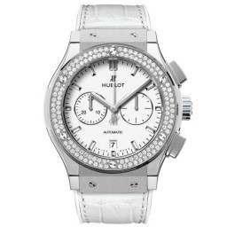 Hublot Chronograph Titanium White Diamonds 541.NE.2010.LR.1104
