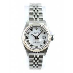 Rolex Lady DateJust 79174 White Roman Numeral Dial Jubilee Bracelet